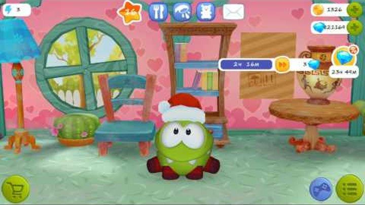 АМ НЯМ НОВЫЕ СЕРИИ #10– МУЛЬТИК My Om Nom мой виртуальный питомец игра мультик #Мобильные игры
