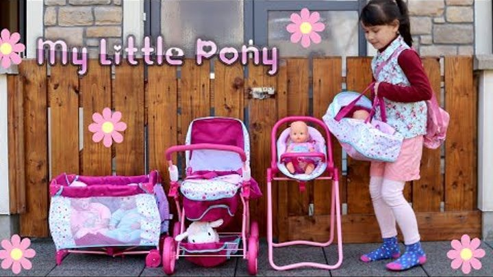 Baby Dolls Nursery Center Highchair Playpen Pram Stroller Baby Annabell Baby Born Lil cutesies