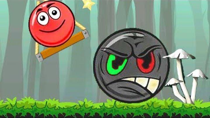 Приключения нового красного шарика в мультике игре для детей. Red Ball Roll