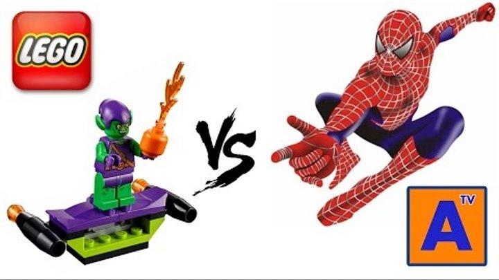 Лего Человек Паук vs Зеленый Гоблин 10687 Lego Juniors Review