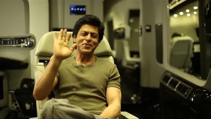 Shah Rukh Khan wishes Happy Diwali From Dilwale Set