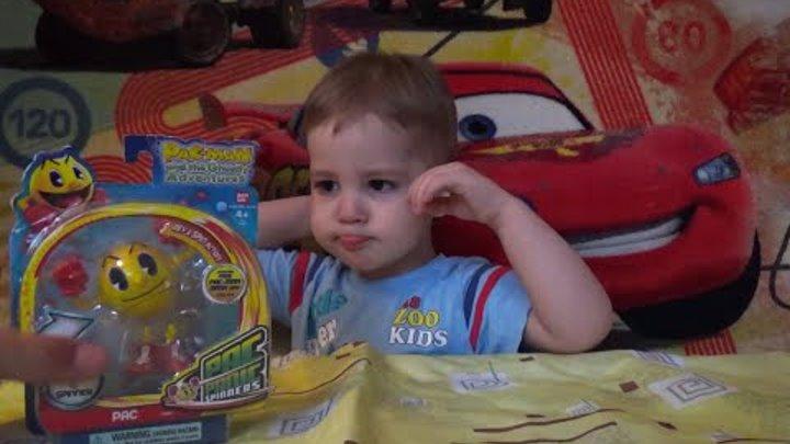 Распаковка ПАКМАН игры для детей Unboxing PAC-MAN Toys for kids видео для детей 2016