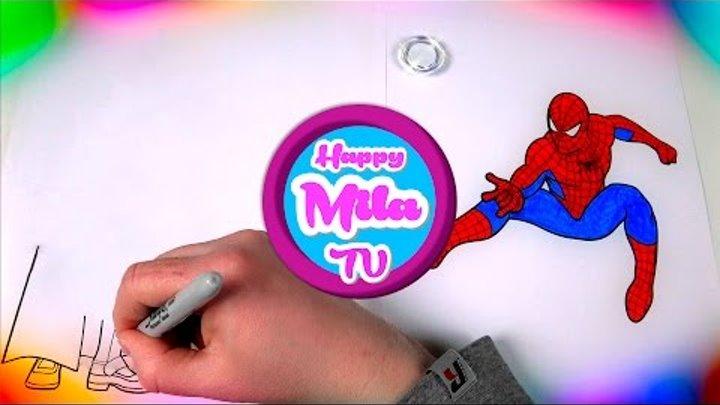 Рисуем Супергероев Человека Паука и его друга