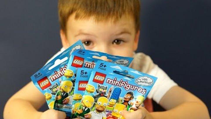 Лего Минифигурки 71005 Симпсоны на руссокм языке. Лего мультики на русском.