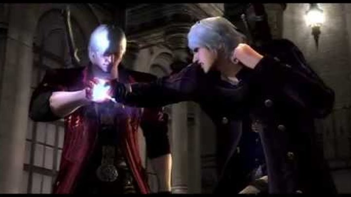 Devil May Cry 4 Special Edition game play nero vs dante 2nd fight