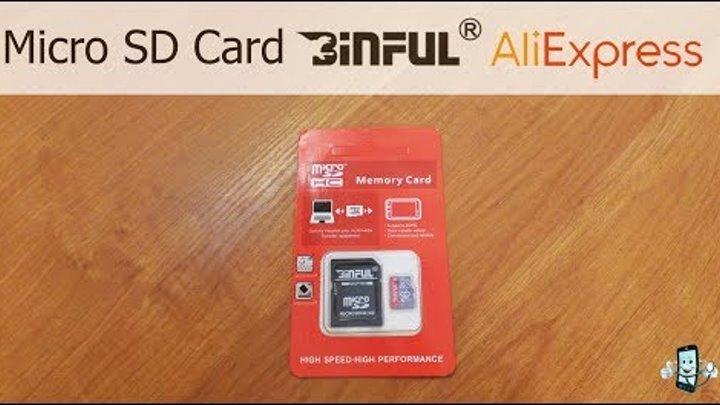 Карта памяти Micro SD BINFUL 16 GB с AliExpress Обзор, распаковка и тестирование китайской флешки