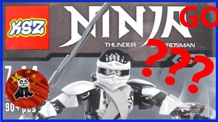 Фигурка NINJA Thunder Swordsman (ниндзя-громовержец)от китайской компании KSZ обзор на русском языке