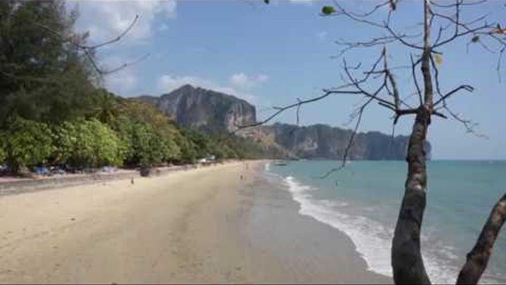 Пляж Ао Нанг, отель Краби Ресорт, Таиланд (The beach of AO Nang, Krabi hotel resort, Thailand)