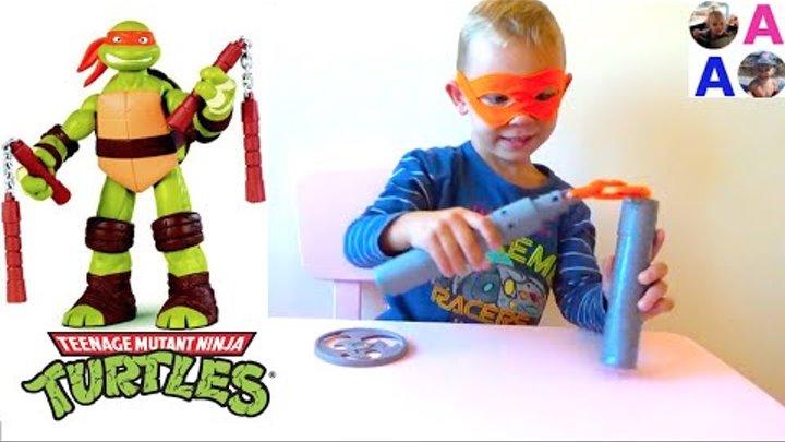 Черепашки Ниндзя Микеланджело toys TMNT 2016 Michelangelo Ninja Turtles