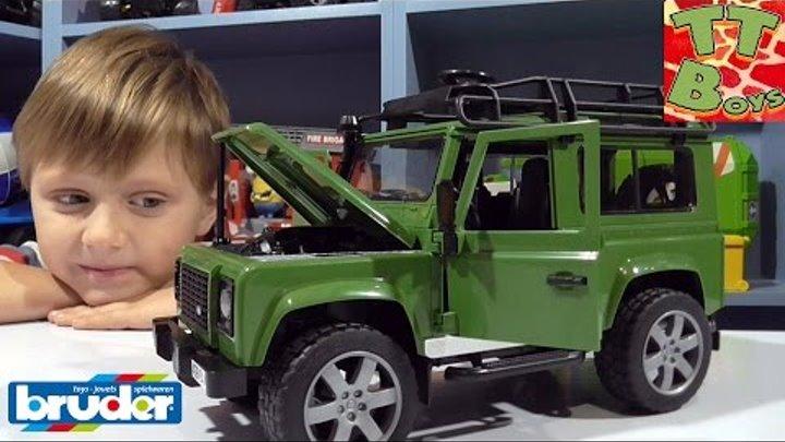 ✔BRUDER. Распаковка и обзор Джипа от Игорька / Land Rover Defender Station Wagon / Unboxing Toys ✔