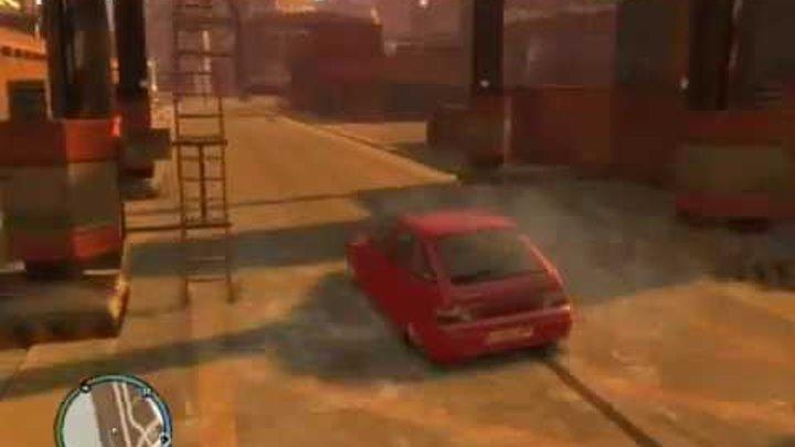 GTA 4 ( Русские авто) приколы...