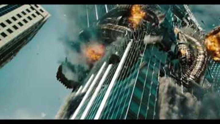 Шоквейн разрушает небоскреб. Трансформеры 3׃ Тёмная сторона Луны. FullHD 1080