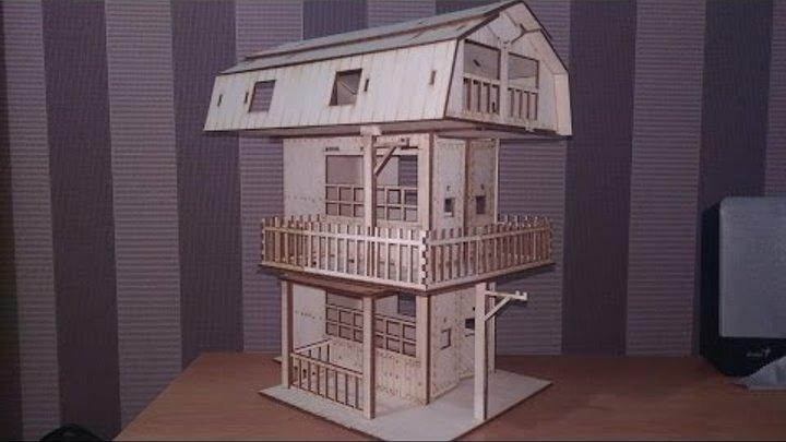 Строим кукольный дом! Домик у моря из двух конструкторов..
