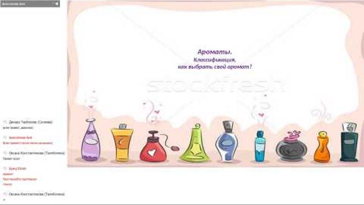 Ароматы. Классификация, как выбрать свой аромат? Спикер: Анисимова Анна