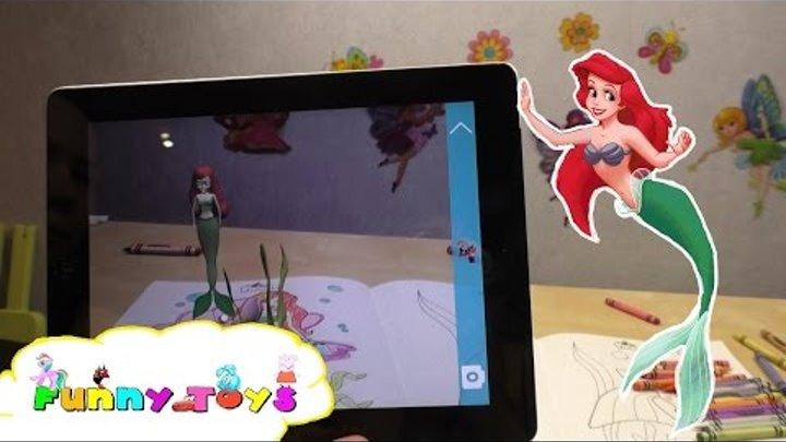 Princess Ariel 3D Disney Русалочка 3D Живая Раскраска