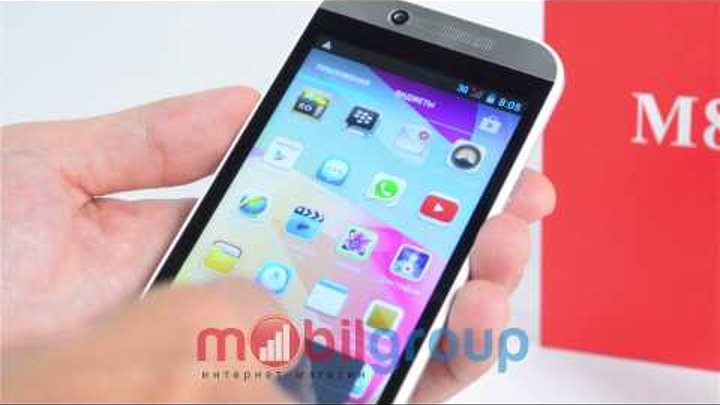 Китайский телефон HTC One M8 4,3 дюйма видео обзор