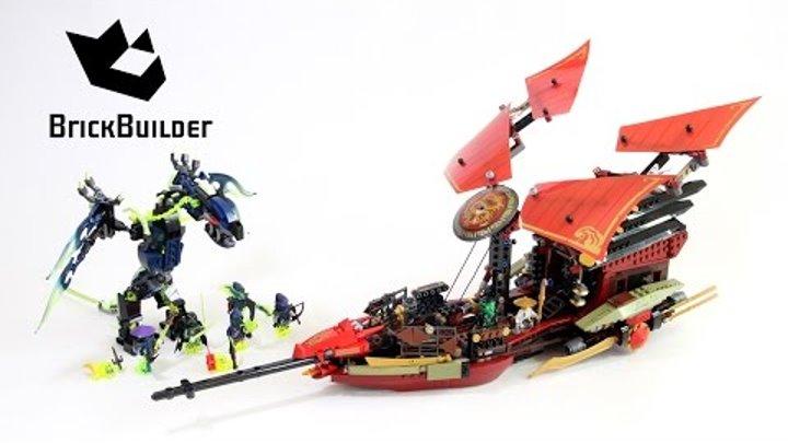 Lego Ninjago 70738 Final Flight Of Destinys Bounty Lego Speed Build