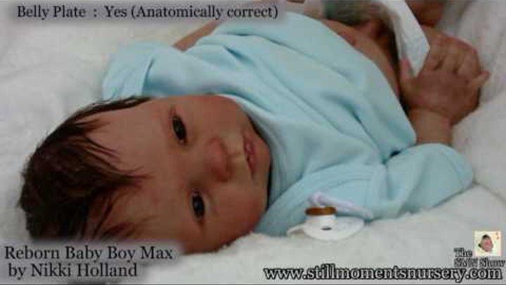 Reborn Baby Boy Max by Nikki Holland Presentation - The SMN Show 11