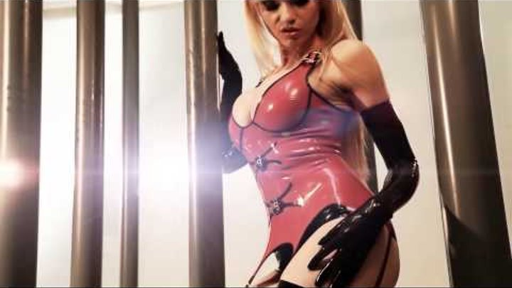 SEXY Red LATEX Corset