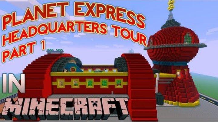Minecraft Futurama: Planet Express Headquarters Tour (Part 1)