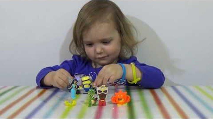 Мстители Миньены Феи Дисней Киндер Сюрприз игрушки распаковка Kinder Surprise toys for girls