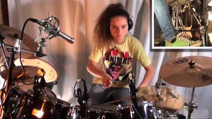 Give It Away - Red Hot Chili Peppers, drum cover by a 14-year old girl