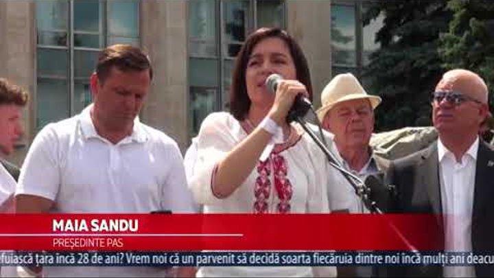 Cum mitingul pentru mandatul lui Andrei Năstase s-a transformat într-o acțiune unionistă