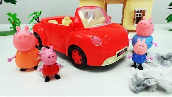 Моем машину папы Свина. Дружная работа. Мультфильм про Свинку Пеппу и ее семью
