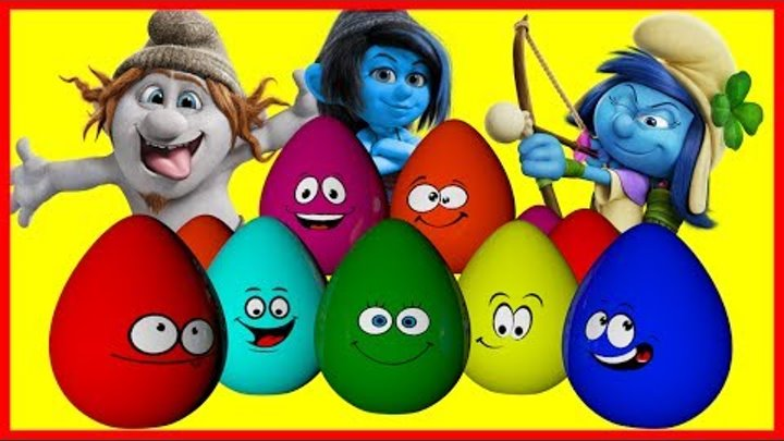 Kinder Surprise - The Smurfs. Смурфики - новый мультик Киндер сюрприз!!!