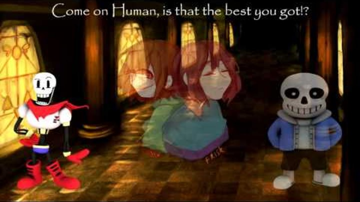 Undertale - Stronger Than You: Papyrus & CalebHyles Sans VS Chara & Frisk