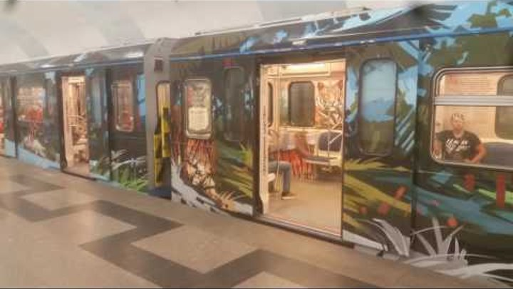 Тематические поезда московского Метро 3. Thematic trains in Moscow Metro 3.