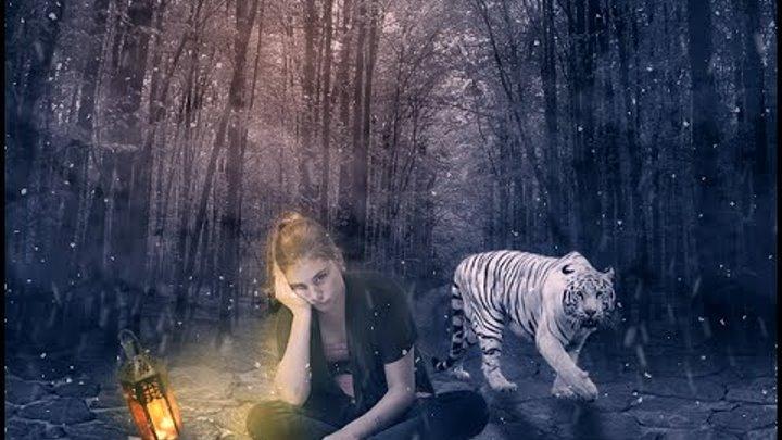 Girl & The White Tiger - Photoshop Manipulation Fantasy Effect Tutorial