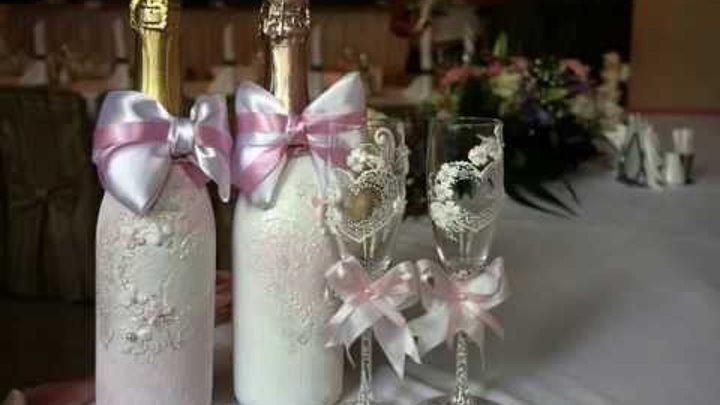 Свадебные бокалы ручной работы от Алены Дубасовой, доставка по России