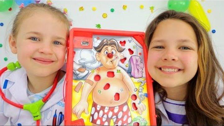 Игры для детей. Все к врачу! Лучшие подружки Настя и Ксюша лечат зубы Ам-Няму и делают операцию!