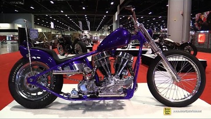 Panhead Custom Bike by Blings Cycles - Walkaround - 2016 AIMExpo Orlando