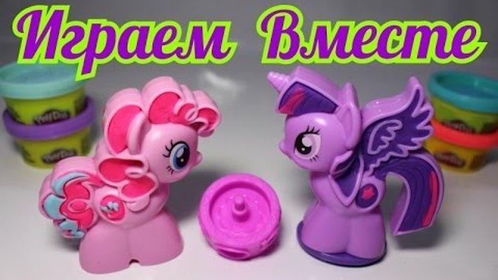 Лепим и играем. Игровой набор Пони - Знаки отличия. Play-doh. Принцесса Твайлайт Спаркл и Пинки Пай.