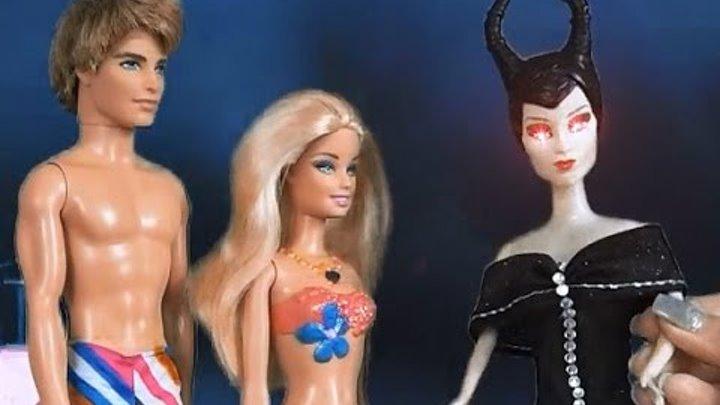Кукла Барби, все серии подряд, Водный мир, Барби и Челси русалки, Малефисента спасает Челси