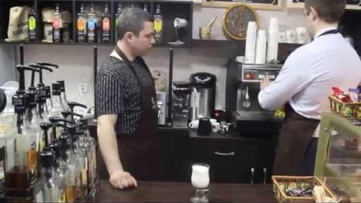 """8. Как приготовить кофе """"Карамель макиято"""" (Серия тренингов бариста от сети кофеен ТМ MY COFFEE)"""