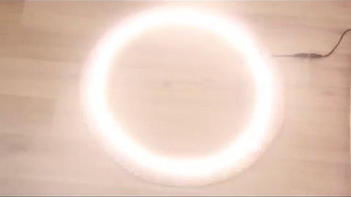 Светодиодное кольцо для селфи и съемок своими руками.