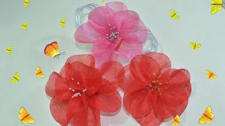Passo a Passo - Flor de Organza, muito fácil - DIY