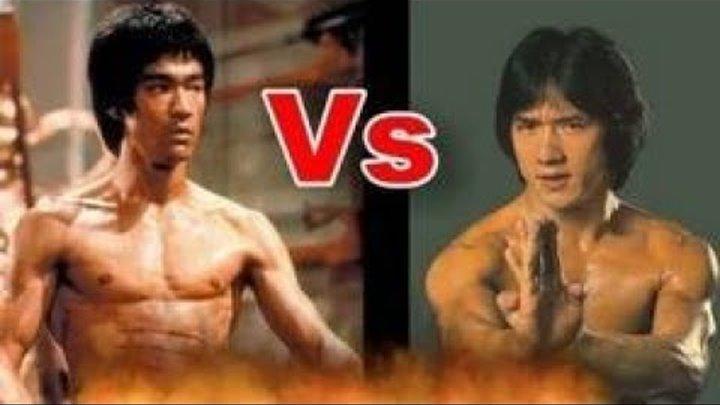 Джеки Чан VS Брюс ли. Лучшие бои и моменты