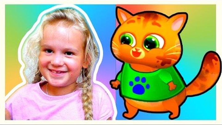 Котенок БУБУ #2 - Мой Виртуальный Котик Bubbu My Virtual Pet Игровой МУЛЬТИК для Детей