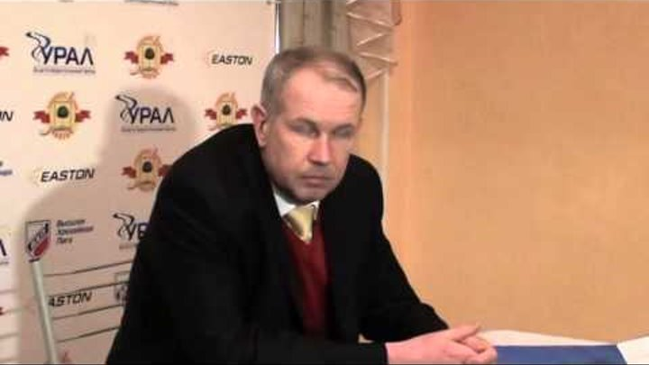 Пресс-конференция после 5-го матча серии ХК Липецк - Ермак