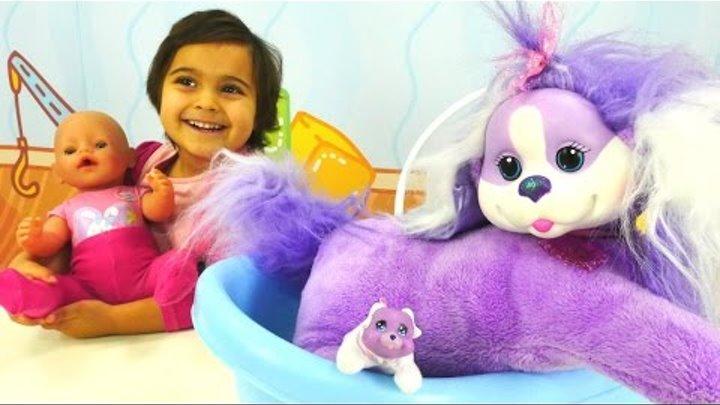 Видео с игрушками. ДЕТСКИЙ КАНАЛ игрушки для девочек. Влог с Машей #миними и собачкой!