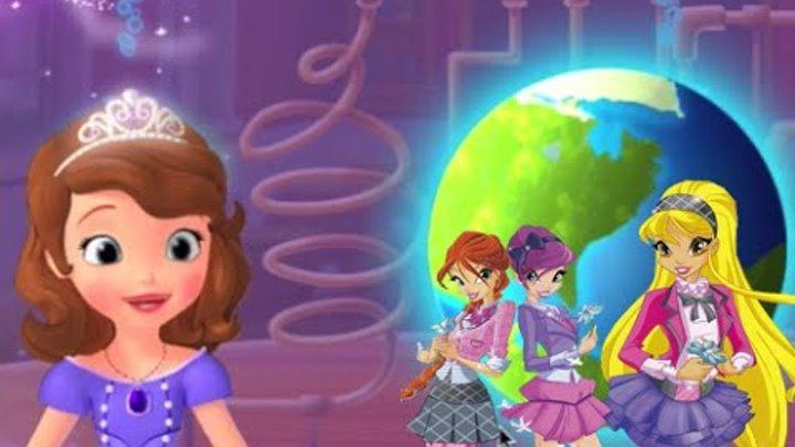 Клуб Винкс и София Прекрасная на уроке химии в школе. Учим планеты
