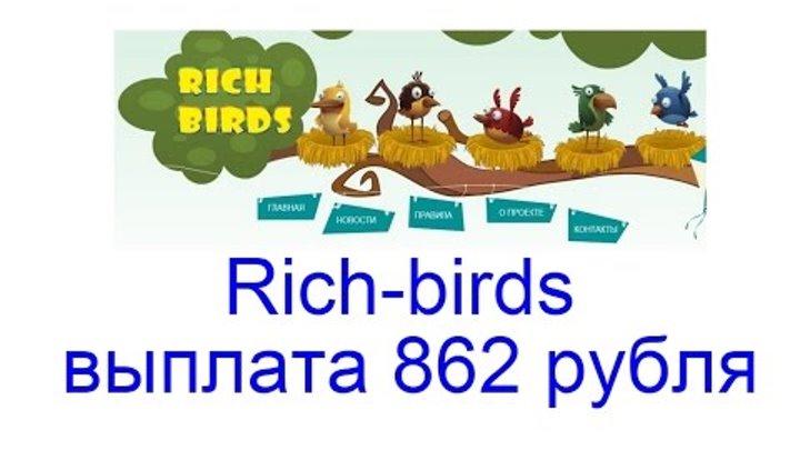 Rich birds выплата 862 рубля, игра с выводом средств