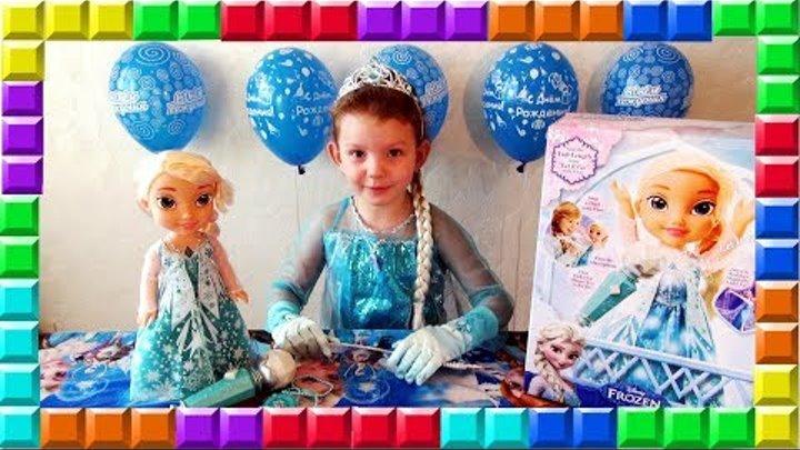 ✿ FROZEN Холодное Сердце Поющая кукла ЭЛЬЗА С МИКРОФОНОМ Обзор Disney Princess Singing Elsa