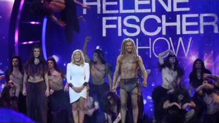 Helene Fischer mit dem Tarzan Musical Cast aus Stuttgart (Medley) - Berlin Velodrom - 10.12.2013
