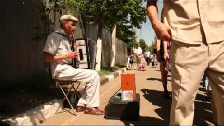 Слепой музыкант в парке победы г. Саратова 9 мая 2012