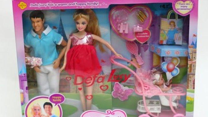 Беременная кукла. Играем в куклы счастливая семья. Happy Family